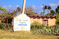Town sign near Velasco, Holguin, Cuba.