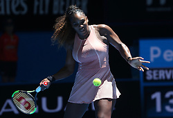 PERTH, Dec. 31, 2018  Serena Williams of the United States returns the ball during the women's single match against Maria Sakkari of Greece between the United States and Greece at Hopman Cup mixed teams tennis tournament in Perth, Australia, Dec. 31 , 2018. Serena Williams won 2-0. (Credit Image: © Zhou Dan/Xinhua via ZUMA Wire)