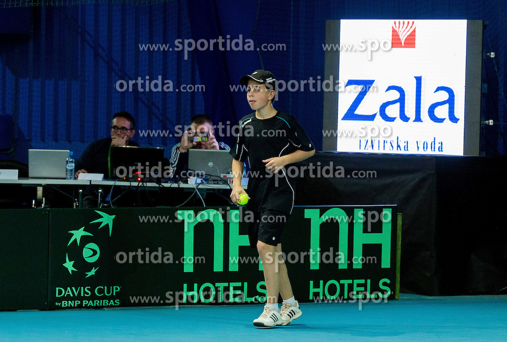 Sponsors during Day 3 at Davis Cup Slovenia vs Lithuania competition, on November 1, 2015 in Kranj, Slovenia. Photo by Vid Ponikvar / Sportida