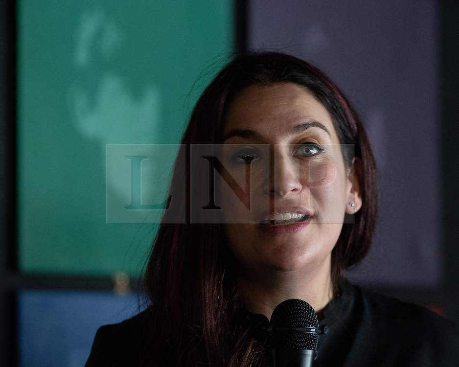 © Licensed to London News Pictures . 23/09/2018. Liverpool, UK. LUCIANA BERGER MP speaks at a rally by The Jewish Labour Movement at The Liverpool Pub in central Liverpool during the first day of the 2018 Labour Party Conference . Photo credit: Joel Goodman/LNP