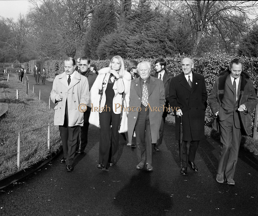 "Former Miss World Visits Dublin Zoo.<br /> 1973.<br /> 14.01.1973.<br /> 01.14.1973.<br /> 14th January 1973.<br /> Miss Eva Rueber-Staier, former Miss World from Austria and the ""World Wildlife Fund's Anniversary Girl"", paid her first visit to Ireland to open the Shell/BP Irish Wildlife Promotion. As part of the promotion Eva paid a visit to Dublin Zoo in the Phoenix Park, Dublin.<br /> <br /> Image shows Miss Rueber-Staier touring the Zoo with  Shell/BP and Zoo officials."