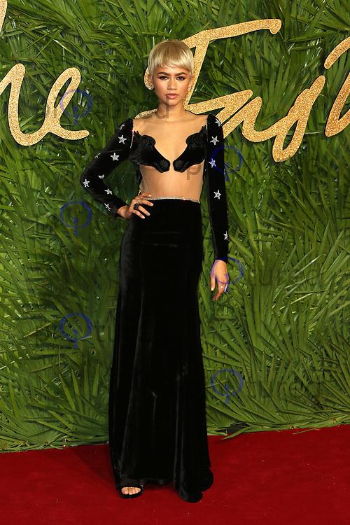 Zendaya, The Fashion Awards 2017, The Royal Albert Hall, London UK, 04 December 2017, Photo by Richard Goldschmidt