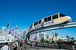 Monorail in Darling Bay Sydney Australia