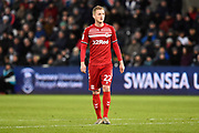 George Saville (22) of Middlesbrough during the EFL Sky Bet Championship match between Swansea City and Middlesbrough at the Liberty Stadium, Swansea, Wales on 14 December 2019.