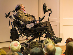 © Licensed to London News Pictures. 19/08/2017. London, UK. Professor Stephen Hawking speaks at The Royal Society of Medicine. Professor Hawkins has accused Health Secretary Jeremy Hunt and the Conservative Government of damaging the NHS. Photo credit: Graham Eva/LNP