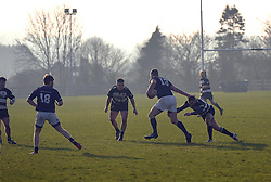 Ballinrobe&rsquo;s Tom Staunton and Michael Walsh look to close in on Westport&rsquo;s Kevin Corcoran during the junior cup clash on sunday last.<br />Pic Conor McKeown