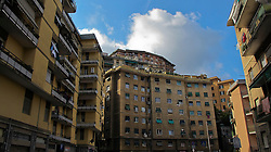 Un quartiere popolare di Genova. A popular neighborhood in Genoa