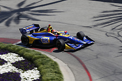 April 13, 2018 - Long Beach, California, United States of America - April 13, 2018 - Long Beach, California, USA: Alexander Rossi (27) takes to the track to practice for the Toyota Grand Prix of Long Beach at Streets of Long Beach in Long Beach, California. (Credit Image: © Justin R. Noe Asp Inc/ASP via ZUMA Wire)