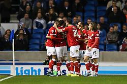 Goal, Bristol City's Derrick Williams scores, Brighton & Hove Albion 0-1 Bristol City - Mandatory byline: Jason Brown/JMP - 07966 386802 - 20/10/2015 - FOOTBALL - American Express Community Stadium - Brighton,  England - Brighton & Hove Albion v Bristol City - Championship