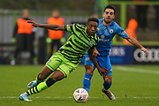 Forest Green Rovers Ebou Adams(14) runs forward during the The FA Cup match between Forest Green Rovers and Billericay Town at the New Lawn, Forest Green, United Kingdom on 9 November 2019.