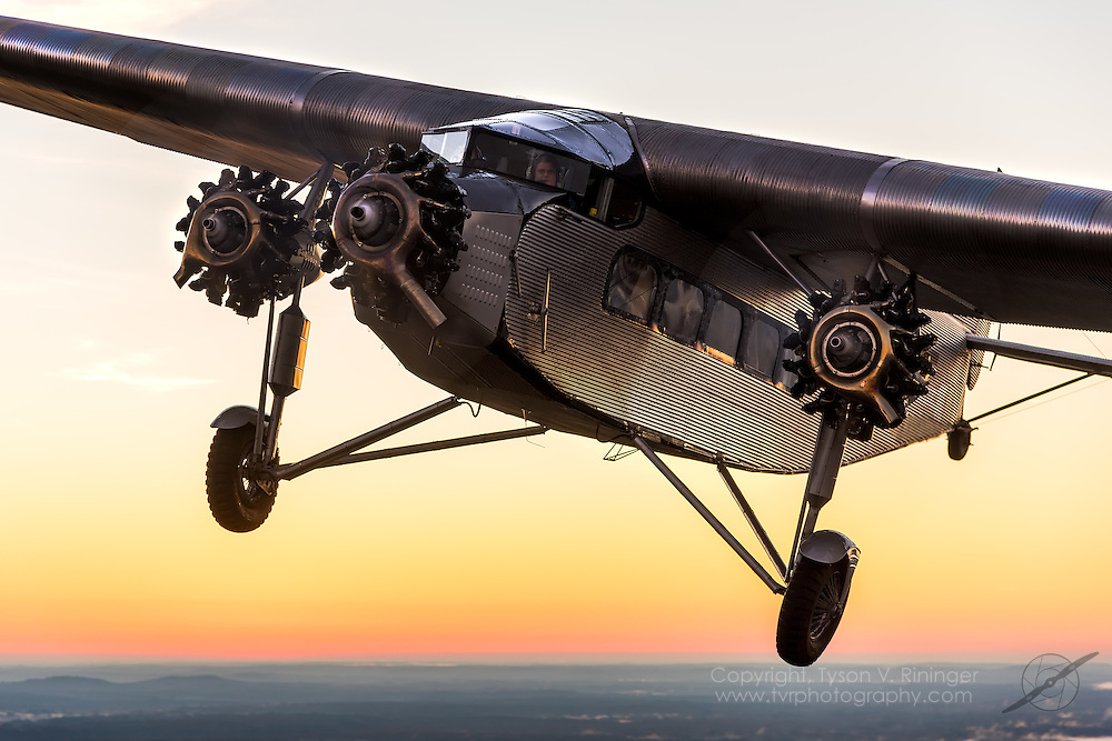 "This 1929 Ford 4-AT-E Tri-Motor, registered NC9612, has a unique and storied history. In 1929, it was delivered as a new passenger plane to Mamer Flying Service in Spokane, Washington. It was later sold to K-T Flying Service of Honolulu and was at Pearl Harbor on December 7, 1941, where it suffered superficial bullet holes from Japanese strafing. Brought back to the mainland in 1946, it was leased by TWA for their 1949 20th Anniversary celebration. It then went to an agricultural operator in Idaho and was modified to a sprayer and also as one of the pioneer forest fire fighting air tankers. Johnson Flying Service in Montana flew it for several years to drop Smoke Jumpers and supplies to fire fighters. Since 1969, the plane has been privately owned, hangared and was part of the Wings and Wheels museum collection previously located in Orlando, FL. This was a no concession, no compromise restoration in which the airframe was reworked, a new interior installed and the exterior completely re-skinned, with most work being performed under the supervision of Master Restorer Bob Woods of Woods Aviation in Goldsboro, NC. The wings were reworked and re-skinned by expert craftsman Maurice Hovious of Hov-Aire in Vicksburg, Michigan. The landing gear, including the unique Johnson bar braking system, is complete and original. The original straight-laced wire wheels have tires that were re-sculpted to replicate the correct profile and tread pattern of the period. The wood paneling of the interior has been skillfully re-created. There are no modern avionics or communications gear - just what came with the plane when it was delivered from the Ford factory in January of 1929. Exhaustive efforts were made to ensure originality in every detail with assistance from Tim O'Callaghan of the Henry Ford Museum and American Aircraft Historian Bill Larkins, author of ""The Ford Tri-Motor"" book. Also assisting were Retired Eastern Airlines Captain Bob Beitel and Retired Admiral Witte Freeman of t"