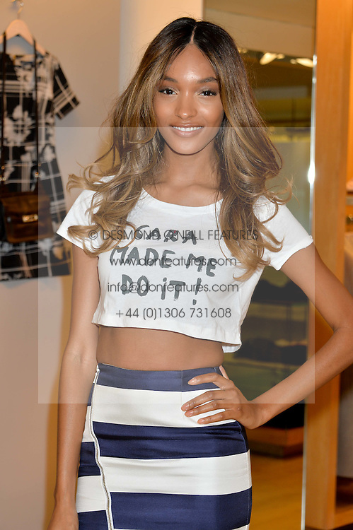 JOURDAN DUNN at the French Connection #NeverMissATrick Launch Party held at French Connection, 396 Oxford Street, London on 23rd July 2014.