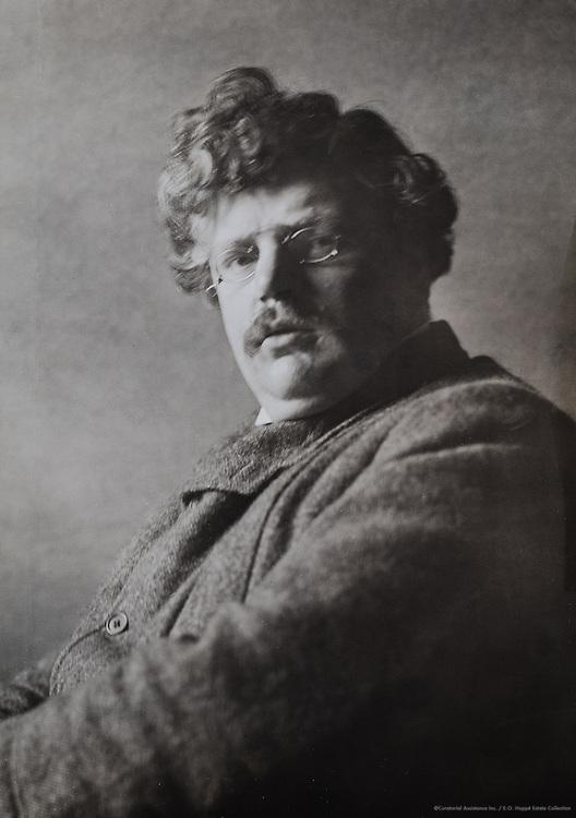 G. K. Chesterton, writer, England, UK, 1925