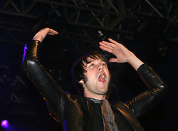 Tom Meighan of Kasabian on stage at the Isle of Skye festival, 2007..Pic ©2010 Michael Schofield. All Rights Reserved..