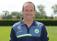German Soccer Bundesliga 2015/16 - Photocall of VfL Wolfsburg on 16 July 2015 at the Volkswagen-Arena in Wolfsburg, Germany: Rehab- and athletic-coach Oliver Mutschler