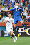 Vincenzo Iaquinta of Italy controls the ball  during the 2010 FIFA World Cup South Africa Group F match between Italy and New Zealand at the Mbombela Stadium on June 20, 2010 in Nelspruit, South Africa.