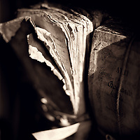 Old leaves of a book