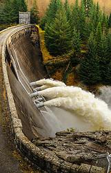 Loch Laggan Dam in flood, Scotland<br /> <br /> (c) Andrew Wilson | Edinburgh Elite media