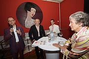 "Presentation of Salon 2008 magazine at Rudolf Budja Galerie. From l.: Thomas Manss (Art Director), Derek Weber (Editor-in-chief), Dr. Bodo Polzer (Editor), Countess Marianne of Sayn-Wittgenstein-Sayn (""Manni"")."
