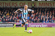 Yohan Gouffran during the Pre-Season Friendly match between York City and Newcastle United at Bootham Crescent, York, England on 29 July 2015. Photo by Simon Davies.