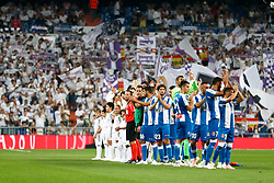 September 22, 2018 - Players before the La Liga (Spanish Championship) football match between Real Madrid and RCD Espanyol on September 22th, 2018 at Santiago Bernabeu stadium in Madrid, Spain. (Credit Image: © AFP7 via ZUMA Wire)