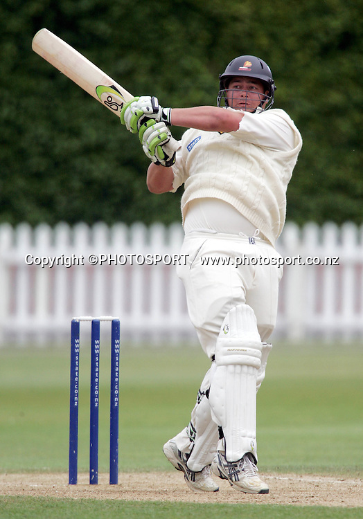Wellingtons Jesse Ryder on his way to scoring 112 during day 3 of the State Championship cricket match between the Wellington Firebirds and the Canterbury Wizards played at the Basin Reserve, Wellington, New Zealand, on Wednesday February 20, 2007. Photo: PHOTOSPORT