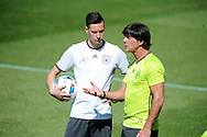 Julian Draxler speaks with head coach <br /> Joachim Low of Germany during training at Stadio Communale, Ascona<br /> Picture by EXPA Pictures/Focus Images Ltd 07814482222<br /> 26/05/2016<br /> ***UK &amp; IRELAND ONLY***<br /> EXPA-EIB-160526-0003.jpg