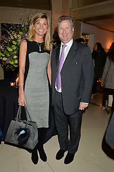 WILLIAM & LUCY ASPREY at a reception hosted by The Rake Magazine and Claridge's to celebrate London Collections 2015 held at Claridge's, Brook Street, London on 8th January 2015.