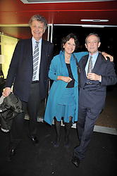 Left to right, WILLIAM & OLGA SHAWCROSS and DAN TOPOLSKI at a party to celebrate the opening of Topolski Century held at The Arches, Hungerford Bridge, London SE1 on 16th March 2009.