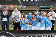 Manchester City celebrate after winning - Dundee United J-League Finals...© David Young - 5 Foundry Place - Monifieth - DD5 4BB - Telephone 07765 252616 - email: davidyoungphoto@gmail.com - web: www.davidyoungphoto.co.uk