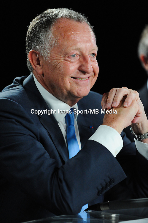 Jean Michel AULAS - 01.06.2015 - Presentation du nouveau joueur de Lyon<br />