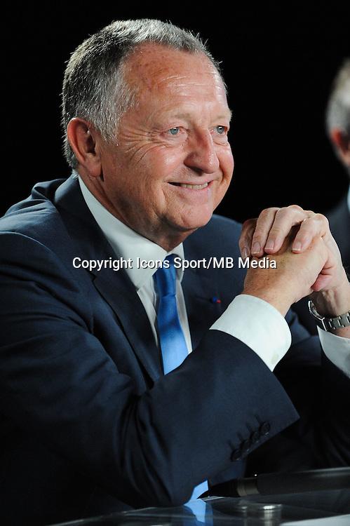 Jean Michel AULAS - 01.06.2015 - Presentation du nouveau joueur de Lyon<br />Photo : Jean Paul Thomas / Icon Sport