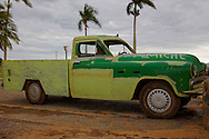Truck in Playa La Mulata, Pinar del Rio, Cuba.