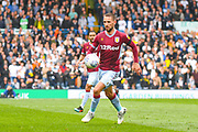 Conor Hourihane of Aston Villa (14) in action during the EFL Sky Bet Championship match between Leeds United and Aston Villa at Elland Road, Leeds, England on 28 April 2019.
