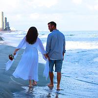 Beach Wedding at Garden City Beach Pier Love in Garden City Beach
