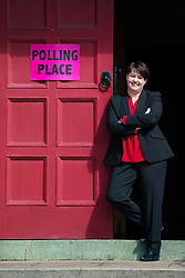 Edinburgh, Scotland, UK. 23 May 2019. Scottish Conservative leader Ruth Davidson MSP casts her vote in the European Elections at Wilson Memorial Church in Edinburgh, Scotland.