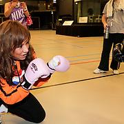 NLD/Amstelveen/20120502 - Lorenzo Lamas geeft boksles, Patty Brard