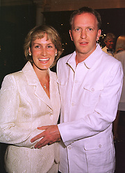 MR SIMON SEBAG-MONTEFIORE and his fiance MISS SANTA PALMER-TOMKINSON a family friend of the Prince of Wales, at a party in London on 1st September 1998.MJN 35