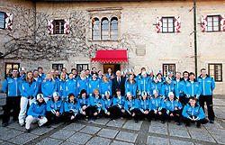 Official photo of  members of Slovenia team for European Youth Olympic Festival (EYOF) in Liberec (CZE) at official presentation, on February  9, 2011 at Bled Castle, Slovenia. (Photo By Vid Ponikvar / Sportida.com)