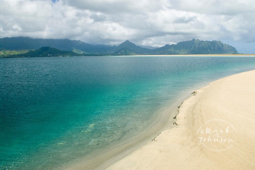 Ahu o Laka sandbar, Kaneohe Bay, Hawaii, USA