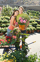 Couple Shopping for Plants at Garden Store