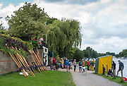 Walton, Great Britain,  Walton Reach Regatta, Walton on Thames, Skiff and Punting Regatta  <br /> <br /> Saturday  19/08/2017<br /> <br /> [Mandatory Credit. Peter Spurrier/Intersport Images] River Thames .......... Summer, Sport, Sunny, Bright, Blue Skies, Skilful,