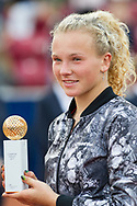 Katerina Siniakova (Czech Republic) at the 2017 WTA Ericsson Open in Båstad, Sweden, July 30, 2017. Photo Credit: Katja Boll/EVENTMEDIA.