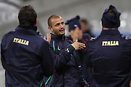 CAPE TOWN, SOUTH AFRICA - 13 JUNE 2010, Simone Pepe of Italy chats during Italy's training session held at the Cape Town Stadium. Italy play Paraguay in Match 11 of the 2010 FIFA World Cup on Monday 14 June 2010. Photo by: Shaun Roy/Sportzpics