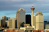 Calgary City Skyline with Calgary Tower,  Calgary , Alberta, Canada   Photo: Peter Llewellyn