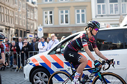 Katarzyna Niewiadoma (POL) of CANYON//SRAM Racing prepares for the Amstel Gold Race - Ladies Edition - a 126.8 km road race, between Maastricht and Valkenburg on April 21, 2019, in Limburg, Netherlands. (Photo by Balint Hamvas/Velofocus.com)