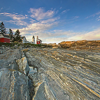 Pemaquid Point Lighthouse photography wall art prints are available as museum quality photography prints, canvas prints, acrylic prints, wood prints or metal prints. Prints may be framed and matted to the individual liking and room decor needs:<br /> <br /> http://juergen-roth.pixels.com/featured/pemaquid-point-juergen-roth.html<br /> <br /> Upon arrival at Pemaquid Point Light and Pemaquid Neck in Maine, I initially explored various composition of the lighthouse but settled on this composition because of the attractive foreground while awaiting a beautiful sunset. A split ND filter balanced the high contrast between the dark foreground and bright sunset sky.   <br /> <br /> The Pemaquid Point Light is a historic Unites States lighthouse located in Bristol, Lincoln County, Maine, at the tip of the Pemaquid Neck. The Pemaquid Point lighthouse rises above the pounding surf of the Atlantic Ocean and the spectacular rock formations. It is a cultural and historical treasure and the famous New England lighthouse was added to the National Register of Historic Places as Pemaquid Point Light on 16th of April in 1985.<br /> <br /> Good light and happy photo making!<br /> <br /> My best,<br /> <br /> Juergen<br /> Prints: http://www.rothgalleries.com<br /> Photo Blog: http://whereintheworldisjuergen.blogspot.com<br /> Instagram: https://www.instagram.com/rothgalleries<br /> Twitter: https://twitter.com/naturefineart<br /> Facebook: https://www.facebook.com/naturefineart