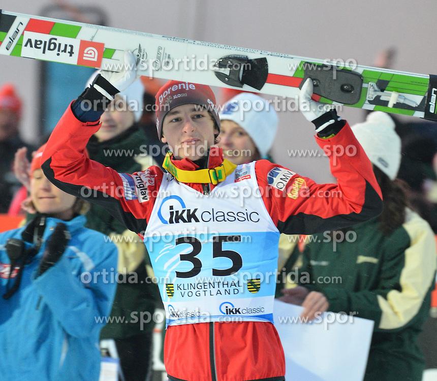 13.02.2013, Vogtland Arena, Kingenthal, GER, FIS Ski Sprung Weltcup, im Bild Jaka HVALA (SLO), Sieger des Springens // during the FIS Skijumping Worldcup at the Vogtland Arena, Kingenthal, Germany on 2013/02/13. EXPA Pictures © 2013, PhotoCredit: EXPA/ Eibner/ Bert Harzer..***** ATTENTION - OUT OF GER *****
