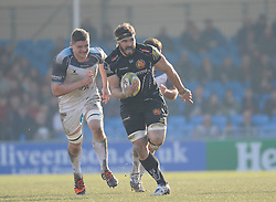 Don Armand of Exeter Chiefs makes a break.  - Mandatory byline: Alex Davidson/JMP - 12/03/2016 - RUGBY - Sandy Park -Exeter Chiefs,England - Exeter Chiefs v Newcastle Falcons - Aviva Premiership