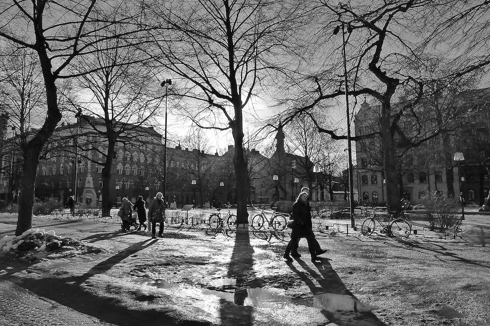 Februaridag på Mariatorget